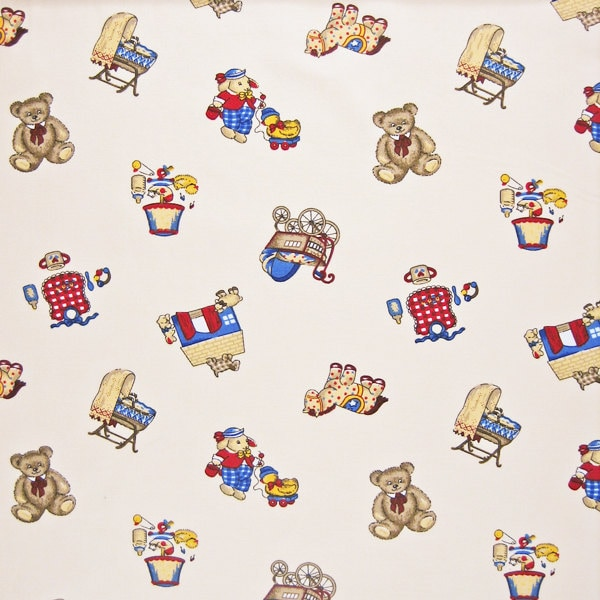 Cream baby fabric in the nursery cotton fabric for Nursery fabric uk