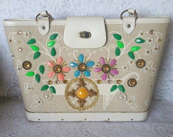Enid Collins, Collins of Texas Vintage Handbag ... flower cart