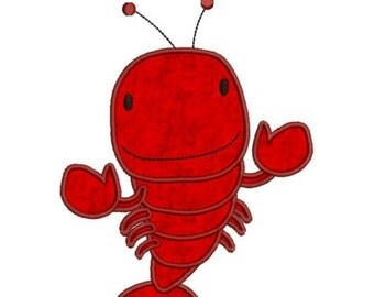 SALE 65% off Applique Lobster Machine Embroidery Designs 4x4 & 5x7 Instant Download Sale