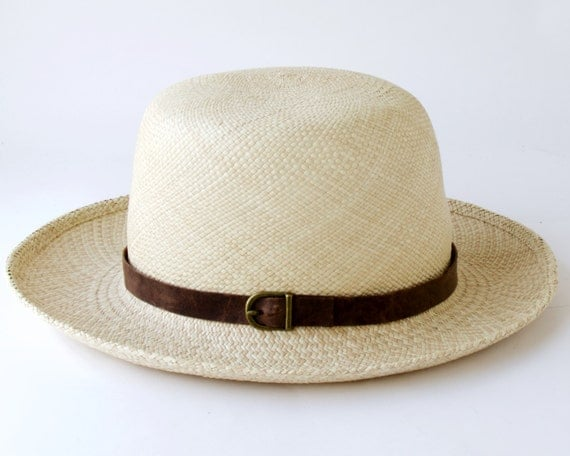Straw Hat Men's Hat Spring Fashion Sun Hat Spring Accessories Safari Hat Summer Hat Panama Hat Optimo Hat Travel Hat Tropical Hat Wide Brim