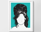 Amy Winehouse Screen Print, Amy Winehouse Wall Art, Amy Winehouse Wall Decor, Amy Winehouse Print, Amy Winehouse Merchandise, Music Wall Art