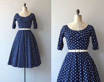 Suzy Perette dress | vintage 1950s dress | polka dot 50s dress