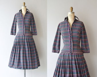 Linear Advantage dress | vintage 1950s dress | cotton 50s day dress