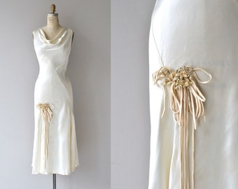 Lissome wedding gown | vintage 1930s wedding dress | silk 30s wedding dress