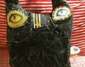 Eclipse the handmade witchy black halloween plush cat