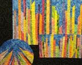 City Lights Art Quilt