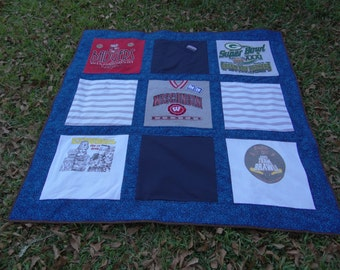 T shirt and Memory quilt  from your loved ones clothing