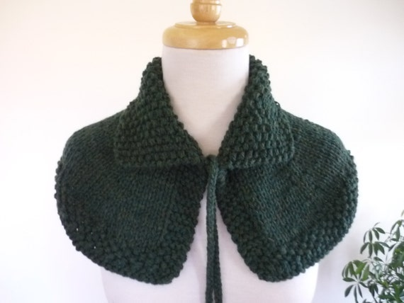 Knit Cape Outlander Inspired Collar Highlands Capelet