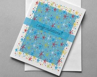 Congratulations Card, Patterns, Sale, Birthday