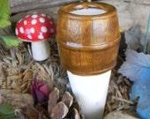 Barrel Water Spike  Water Tender watering stake -  ceramic    Water globe