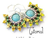 TUTORIAL Beaded Solaris Sun Earrings with Cubic Right Angle Weave