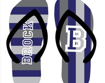 ATHLETE personalized flip flops in adult and kid sizes
