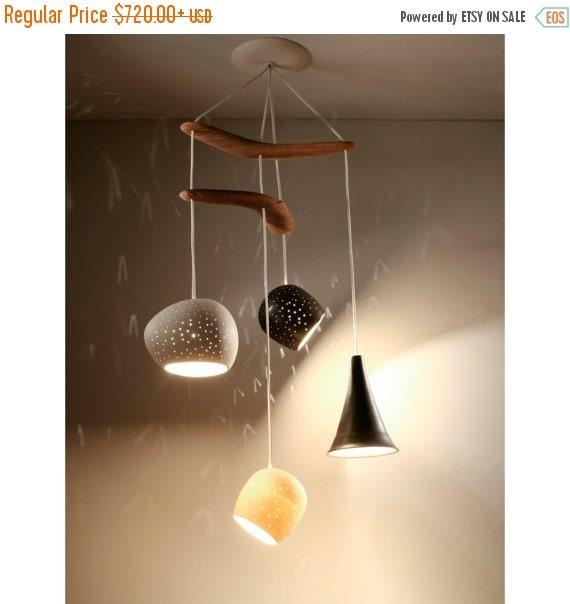 October Sale Chandelier Lighting:  Claylight Boomerang Miro - LED or Xenon Bulbs