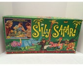 1966 Silly Safari Board Game Topper Toys Rube Goldberg Style Game HTF hard to find