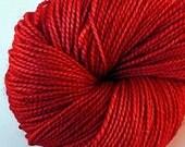 OOAK Ruby - Semi-Solid Tonal - Hand Dyed Merino and Silk Sock Yarn - Crave