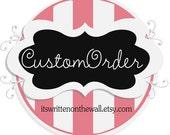 Custom Order for  Preemie69