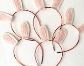 Easter Bunny Ears Headband Pack, White Rabbit Ears, Ready to Ship