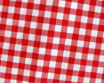 Picnic Red Checks - Japanese Cotton Fabric - Half Yard
