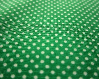 SALE Japanese Cotton Fabric - Grass Green Tiny Dots - Fat Quarter