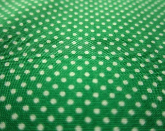 SALE Japanese Cotton Fabric - Grass Green Tiny Dots - Fat Quarter
