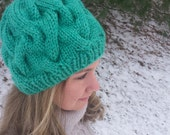 Chunky cable hat. Knit. Knit gift. Winter. Knit wear. Knit accessory. Hat. Winter accessory