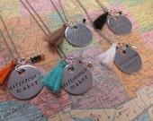Difference Maker - Metal Hand Stamped Necklace