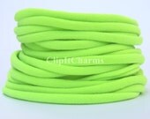 Wholesale .39+ LimeGreen Stretch Nylon Chokers...Use for bottle cap jewelry,pendants,charms, headbands/doubles as a bracelet or anklet....
