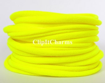 Wholesale .39+Neon Yellow Stretch Nylon Chokers...Use for bottle cap jewelry,pendants,charms, headbands/doubles as a bracelet or anklet....