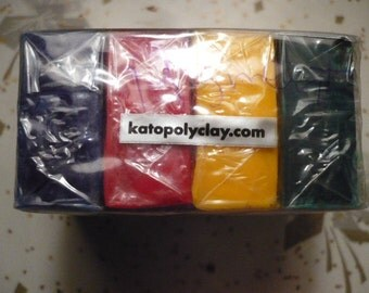 Kato Polyclay, Van Aken, 4 oz, Concentrates, Red, Blue, Green, Yellow Pigments, New, Original, Polymer Clay Supplies, Fimo, Sculpey, Kato