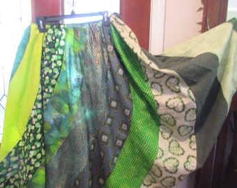Saint Patrick's  green skirt adjustable  Small Medium, Large, Xlarge  Plus size 1XL, 2XL,3XL, 4XL,waist up to 58''  skirt gored swirl