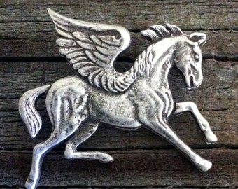Pegasus Pewter Pin