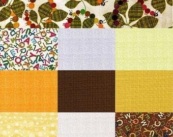 Alphabet animal flash card collection fabrics