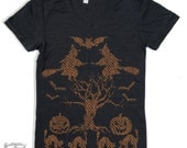 Womens HALLOWEEN Sweater graphic T-Shirt american apparel S M L XL (Color Options)