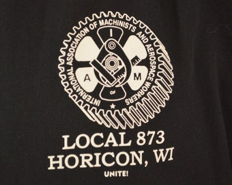 Vintage IAM Union Local 873 jacket HORICON Wisconsin size XL made in usa