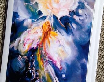 Taking Flight - greeting card of my original painting, beautiful, inspiring