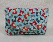 Small Snap Pouch ... Urban Zoologie Mini Foxes in Sky