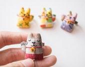 Reserved for Gracie- Maneki-neko fortune cat mini brooch pin #3