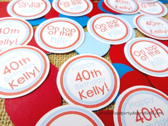 Adult Birthday Party Decorations, Table Confetti, Birthday Party Decorations, Customized