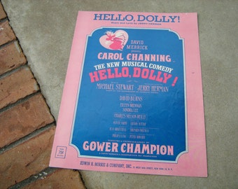 1963  vintage sheet music (  Hello Dolly ) Carol Channing