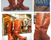 Fabulous Men's 1970's Black Label Frye Boots Size 11