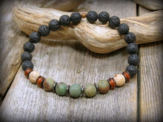 Bracelet for Men, Stack Bracelet, Gemstone Bracelet, Mens Jewelry, Stretch Bracelet,  Guys Bracelet, Mens Bracelet, Native American