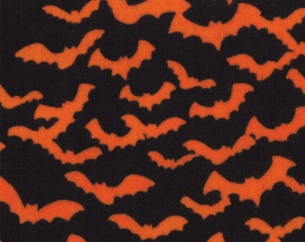 Trick or Treat 1 Yard Remnant 19474-12 Black Orange