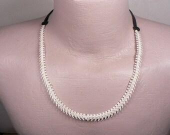 Rattlesnake Vertebra Mens or Womans Adjustable Choker / Necklace / Bone Beads