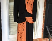 Vintage Halloween Dress with Stars & Moons