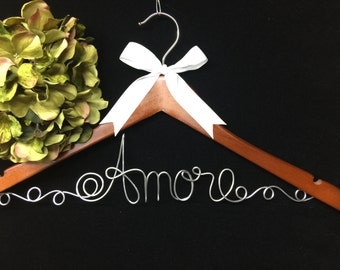 Amore Bride hanger ~ SALE PRICE Wedding Shower gift ~ Last one!