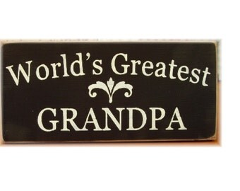 World's Greatest Grandpa primitive wood sign