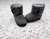 "Ankle Boots, Handmade, fit 13"" Little Darling Dolls, Gray"