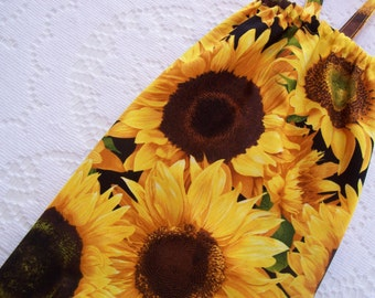 Grocery Bag Holder - Plastic Bag Holder - Plastic Bag Dispenser - Extra Large - Yellow Sunflowers