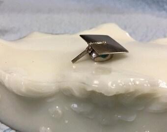 Vintage Sterling Silver Charm Graduation Hat Tassel Beau Silver