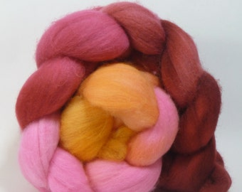 4oz  Polwarth Combed Top - Red Sky at Night